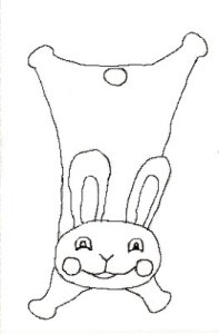 a drawing of a rabbit doudou