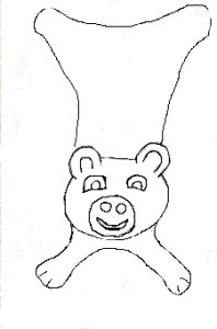 a drawing of a bear doudou