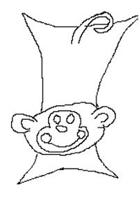 a drawing of a monkey blanket