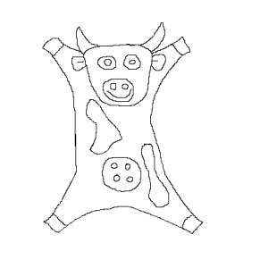 a drawing of a cow doudou
