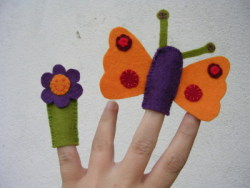 puppet finger flower and butterfly