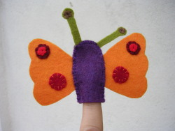 the finished puppet butterfly